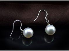 Aliexpress.com: Comprar S925 plata alta imitación de la perla pendientes largos pendientes sección de la gran top jewelry women de la joyería de la joyería del gancho del oído de joyería lupa fiable proveedores en AKOYW S925 Silver stores