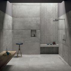 26 Neutral Interior Design To Inspire Your Ego - Home Decor Ideas Large Bathrooms, Grey Bathrooms, Modern Bathroom, Luxury Bathrooms, Concrete Bathroom, Concrete Tiles, Tile Wood, Bad Inspiration, Bathroom Inspiration