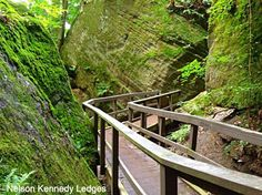 Portage County is home to this 160-acre park, which features rugged cliffs, hidden waterfalls, unique hiking trails and diverse plant life.