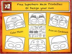 Free Superhero Masks Printables by Charlotte's Clips