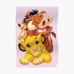 Lion King Simba Timon and Pumbaa Poster