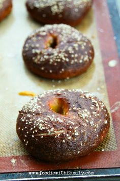Fresh from the oven Homemade Pretzel Bagels from foodiewithfamily.com