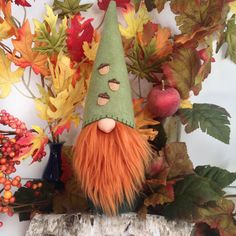 Another cute autumn gnome!  Etsy.com/shop/flowervalleygnomes