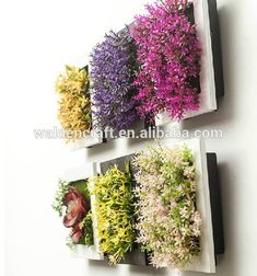 Source 2015 New Design Home Decoration Cheap Wall Hanging Wooden Frame Artificial Flower Wholesale on m.alibaba.com