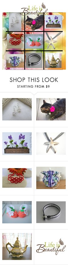 """""""Life is Beautiful"""" by cozeequilts ❤ liked on Polyvore featuring Rustico, Wall Pops! and rustic"""