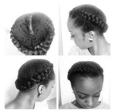 goddess braids on short natural hair - Google Search