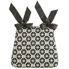 Geometric Dining Cushion - Black & White