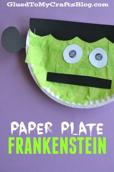 Paper Plate Frankenstein - Kid Craft