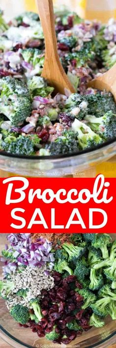 Broccoli Salad is a quick summer salad recipe made with fresh broccoli, dried cranberries, sunflower seeds, and bacon bits are tossed in a creamy homemade dressing. Summer Corn Salad, Summer Salad Recipes, Summer Salads, Summer Bbq, Quiches, Grilled Honey Mustard Chicken, Cooking Recipes, Healthy Recipes, Zone Recipes