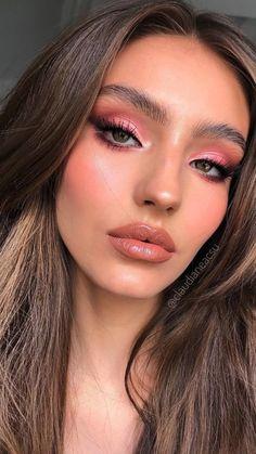 Glam Makeup Look, Glamour Makeup, Makeup Eye Looks, Creative Makeup Looks, Pink Makeup, Cute Makeup, Eyeshadow Looks, Girls Makeup, Gorgeous Makeup