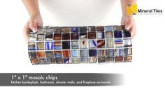 Stained Glass Mosaic Tile England 1x1 - 120HIRHIAR0184MB11 - http://www.mineraltiles.com/stained-glass-mosaic-tile-england-1x1