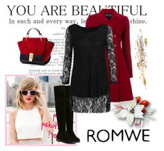 """""""Romwe 6"""" by aida-1999 ❤ liked on Polyvore featuring Emporio Armani, women's clothing, women's fashion, women, female, woman, misses and juniors"""