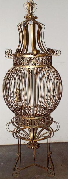Interesting Vintage Bird Cage