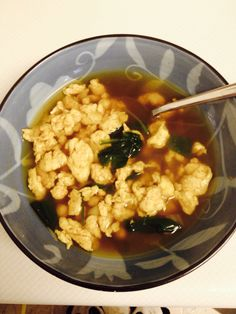 homemade egg drop soup