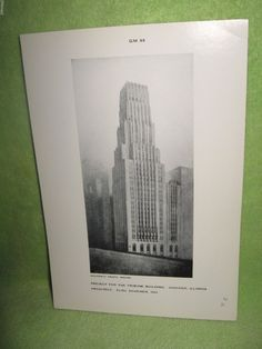 Project For The Tribune Building Chicago, Illinois Black and White Print