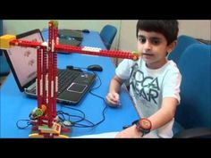 Saalim builds a Robotic Crane using Lego Education WeDo