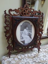 Antique Victorian Era Open Fretwork Wood Picture Frame Dated 1871 $250 ebay