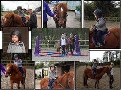 Having fun on a first horse riding experience!