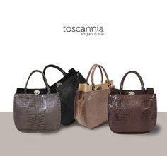 Bolsos de piel Colección Coco de Toscannia.  Cocco leather bag collection by Toscannia www.toscanniac.com