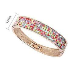 1.25cm thick Sparking Crystals Bangle Bracelet by pooqDESIGN, $15.00