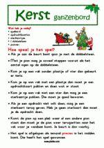 Ganzenbord Kerst - Spelregels