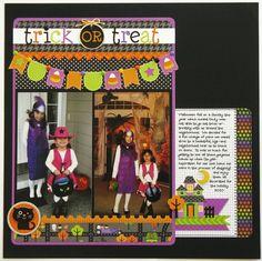 A Doodlebug Halloween Parade layout by Mendi Yoshikawa - Scrapbook.com