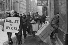 New York anarchist collective Black Mask demonstration during the winter of 1967.  Photo by Larry Fink