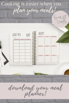 Family menu planners are great if you want to plan the weekly meal ahead! Download our planner insert and start cooking! Grocery List Printable, Meal Planner Printable, Grocery Lists, Weekly Meal Plan Family, Housekeeping Schedule, Organizing Ideas, Organization, Menu Planners, Family Organizer