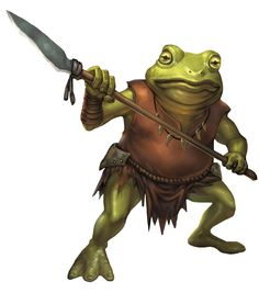 Bullywug (from the D&D fifth edition Monster Manual). Art by Conceptopolis.