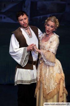 Rococo Damenkleid bei einer Aufführung des Zigeunerbarons bei  der Classionata Mümliswil