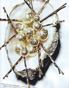 chanel pearl hair pins...