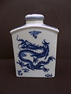 Chinese Blue & White Porcelain Five Clawed Dragon by LotusatNight