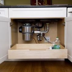 roll out drawer - would make it much easier to get at things in the back