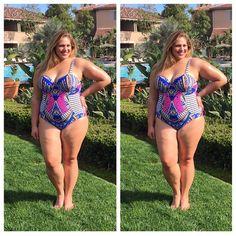 @swimsuitsforall swim suit! @socuteandcurvy on instagram #plussize #swim