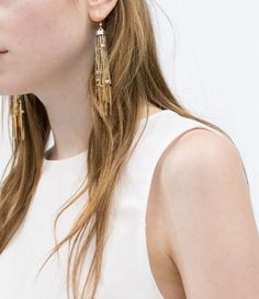 Image 1 of INTERWOVEN CHAINS EARRING from Zara