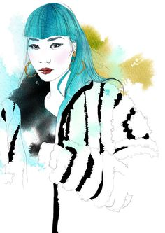 Illustration portrait of Mademoiselle Yulia for Trendycrew blog