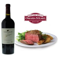Jack Nicklaus Cabernet and Omaha Steaks Gift Set from - Omaha Steaks, founded in 1917 as a single butcher shop in Nebraska, is a fifth-generation family business of gourmet steaks and meats. Omaha Steaks, Jack Nicklaus, Beef, Gift Ideas, Gifts, Food, Gourmet, Meat, Presents