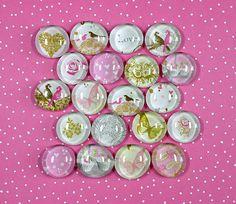 Für diese 20 romantischen Glasnuggets gibt es viele Verwendungsmöglichkeiten:    - Hochzeit  - Dekoration  - Päckchen-Schmuck  - Kartengestaltung  - B