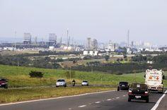 No município de Paulínia está instalada a Replan, maior refinaria de petróleo da Petrobras.