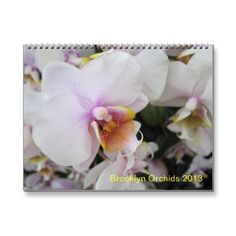Brooklyn Orchids 2013 Calendar - great gift for orchid fans!