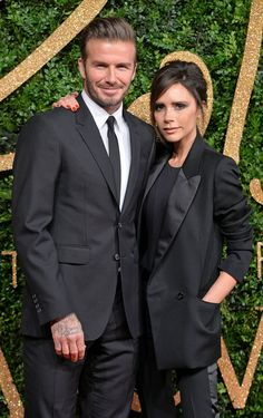 Pin for Later: 39 Pictures That Prove David and Victoria Beckham's Love Just Won't Quit  The two matched in black suits at the British Fashion Awards in November 2015.