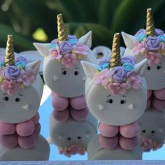 Birthday Cupcakes For Girls Marshmallow Pops 18 Ideas Girl Cupcakes, Birthday Cupcakes, Cupcake Cakes, Unicorn Themed Birthday Party, Unicorn Foods, Marshmallow Pops, Cute Desserts, Chocolate Covered Oreos, First Birthdays