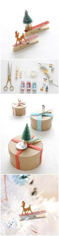 So cute to put on packages, etc. in place of bows!