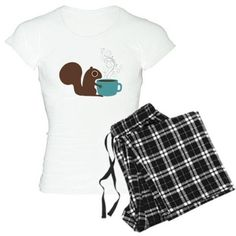 Coffee Squirrel Pajamas on CafePress.com
