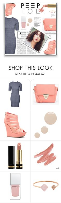 """Pedi Time: Peep-Toe Pumps"" by lovine ❤ liked on Polyvore featuring Boohoo, Topshop, Gucci, Givenchy, Michael Kors and peeptoe"