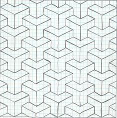 Geometric art by NastyInc on DeviantArt - Arte - Graph Paper Drawings, Graph Paper Art, Easy Drawings, Blackwork Patterns, Doodle Patterns, Zentangle Patterns, Geometric Artwork, Geometric Drawing, Mandala Art Lesson
