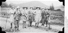 1917, Woman's Land Army Unit, Brattleboro, VT #scenesofnewenland #soNE #soVThistory #soVT #Vermont #VT #history