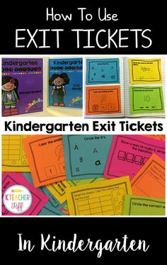 Hey all! I'm so excited to finally be blogging about something that has made my life so much easier over the past year and a half–using exit tickets! Sound a little heavy for kindergarten? Some people think so. Let me be the first to say that as much as I enjoy meaningful data, I also believe that giving students too many lengthy formative assessments can rob us of valuable instructional time. I want to share how I gather information that is USEFUL, and how I do it QUICKLY. Exit tickets
