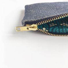 SALE Ecofriendly coin purse Navy Organic Hemp and by ElizaElizaUK
