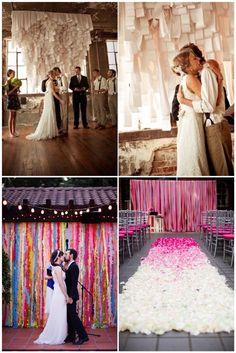 Wedding ceremony ideas using streamers - whimsical & romantic!